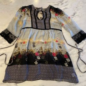 For Love and Liberty silk tunic M